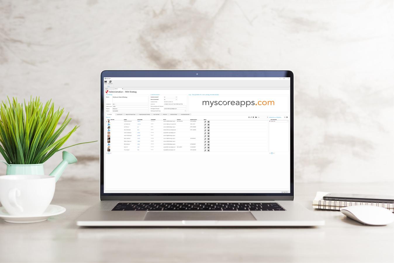 MyScore Kundportal - Anändarstyrd Access