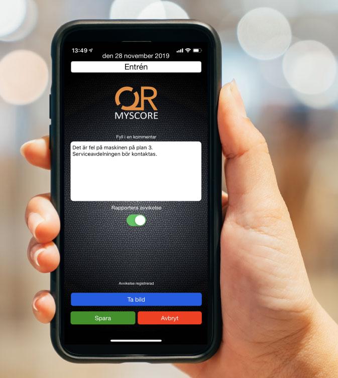 MyScore Närvaro QR - Kommentarer, avvikelser och bilder
