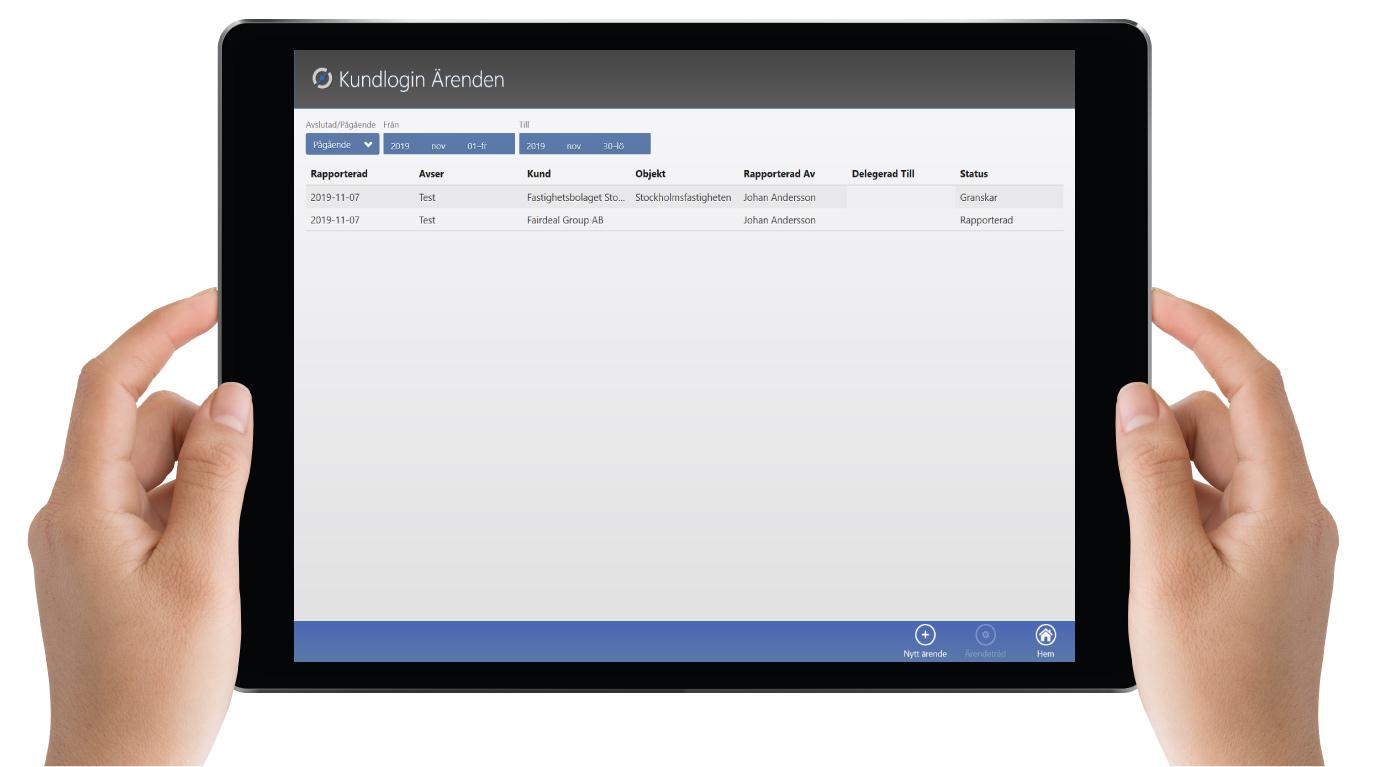 MyScore Kundportal - Ärenden