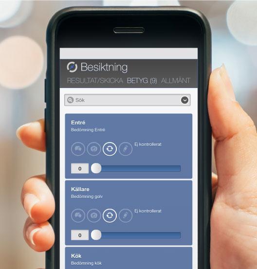 Besiktning - MyScore Digital Kvalitetskontroll