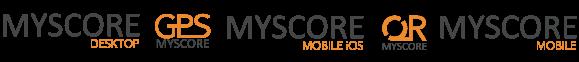 MyScore Apps, MyScore Desktop, MyScore Mobile, MyScore GPS, Myscore QR, MyScore Mobile iOS